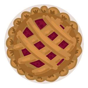 lattice pie for pretend pie stand