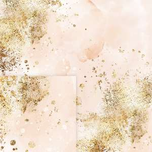 golden and pink abstract pattern