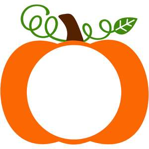 full pumpkin monogram frame