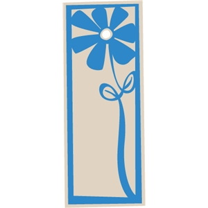 Flower Gift Tag - Rectangle