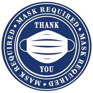 mask required label