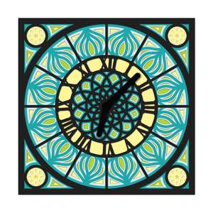 clock square multi layer mandala