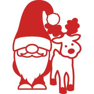 gnome and reindeer