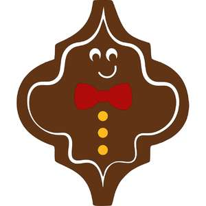 gingerbread man arabesque ornament