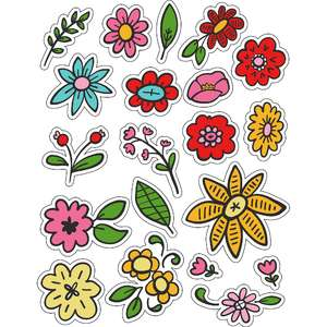 ml winter florals stickers
