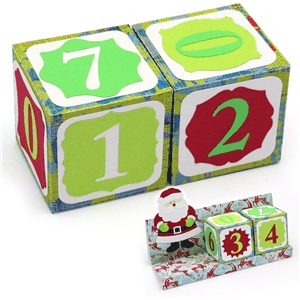 3d advent calendar blocks