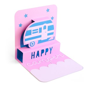 happy camper pop-up card