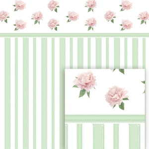 flower digital pattern pink peony collection