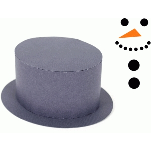 snowman top hat with face