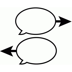 speech bubble arrows