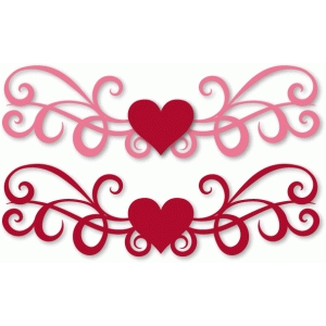 flourished heart border
