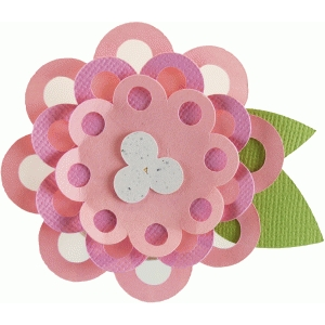 layered dot flower