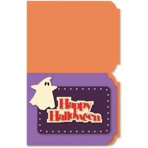 a2 halloween ghost card top fold