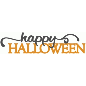 happy halloween layered phrase