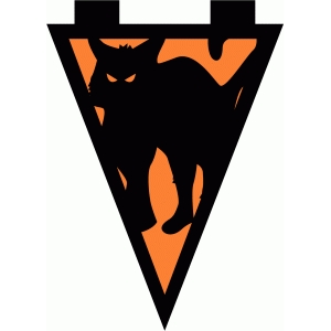 scary cat banner