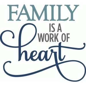 family work of heart - layered phrase