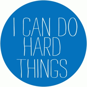 i can do hard things circle