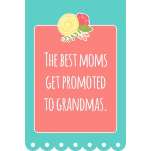 4x6 mother's day quote – promoted to grandma