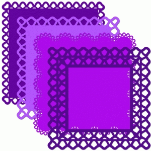 12 x 12 square doily set bell edge