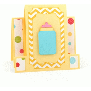 square center step card: baby