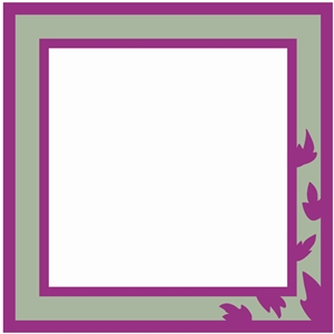 leaf frame square