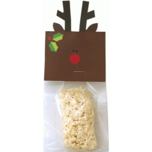 rudolf treat bag topper