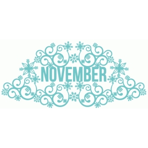 november fancy snowflake title
