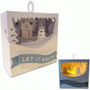 3d ornament snow scene