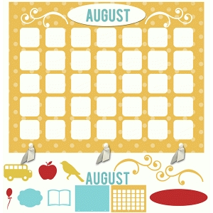 my life calendar page—august