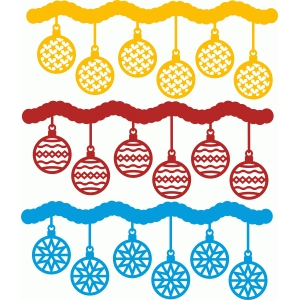 christmas ornaments borders set 4