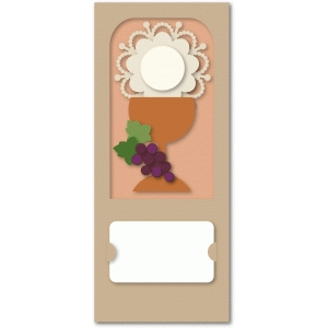 first communion chalice flat card