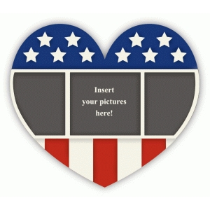 patriotic heart frame