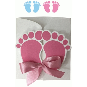 feet baby invitation
