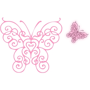 sketch a butterfly