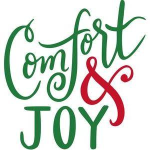 comfort and joy hand lettered