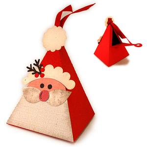 santa triangle box