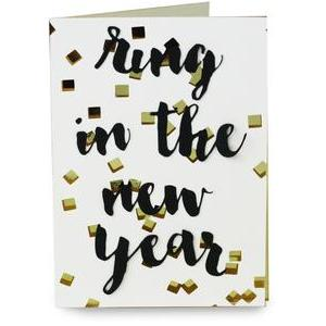 confetti new years card