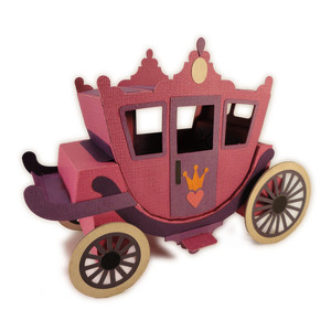 princess 3d carriage