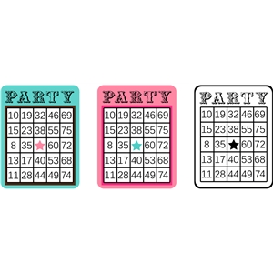 bingo card set - party