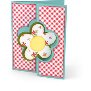flip flap card flower