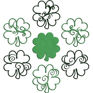 6 flourished clovers