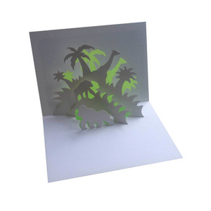 jungle popup card