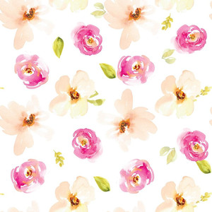 cute pink and peach rose pattern