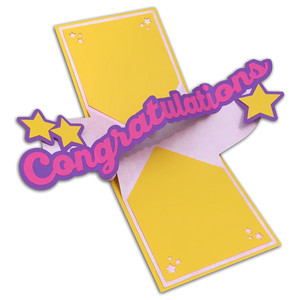 twist pop-up congratulations card