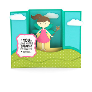 center box card fairy sparkle