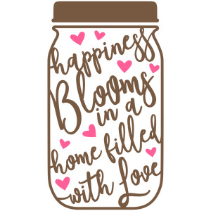 mason jar happiness blooms