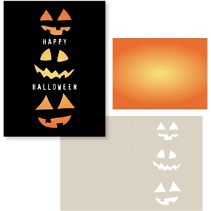 pumpkin faces card
