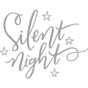 silent night with stars handlettering