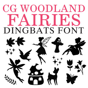 cg woodland fairies dingbats