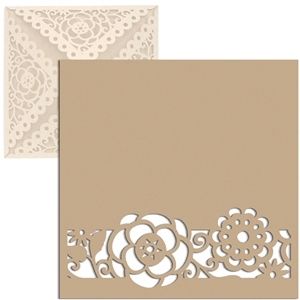 card insert square flowers